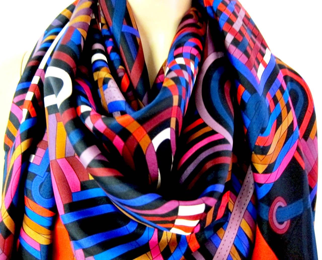 Hermes La Fabrique Des Rubans Summer Silk Twill 140cm At
