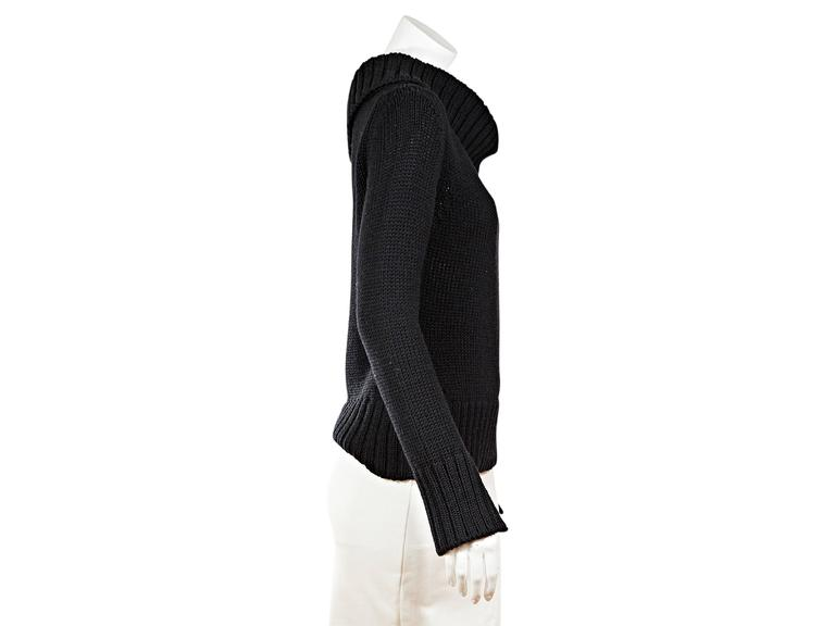 Black Gucci Knit Turtleneck Sweater At 1stdibs