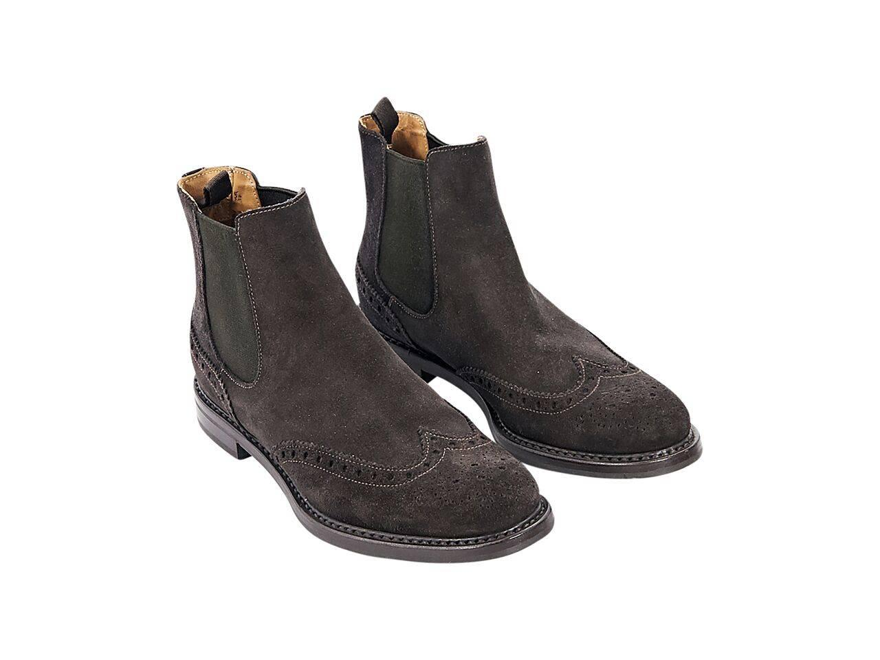 Brown Church39s Suede Chelsea Boots At 1stdibs