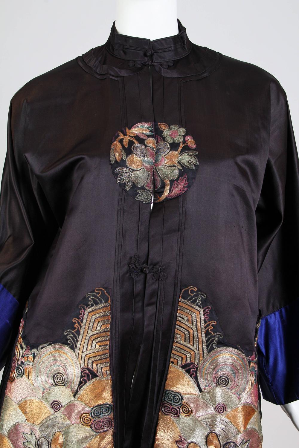 Art Deco Style Jackets Antique Chinese Embroidered Jacket For Sale At 1stdibs