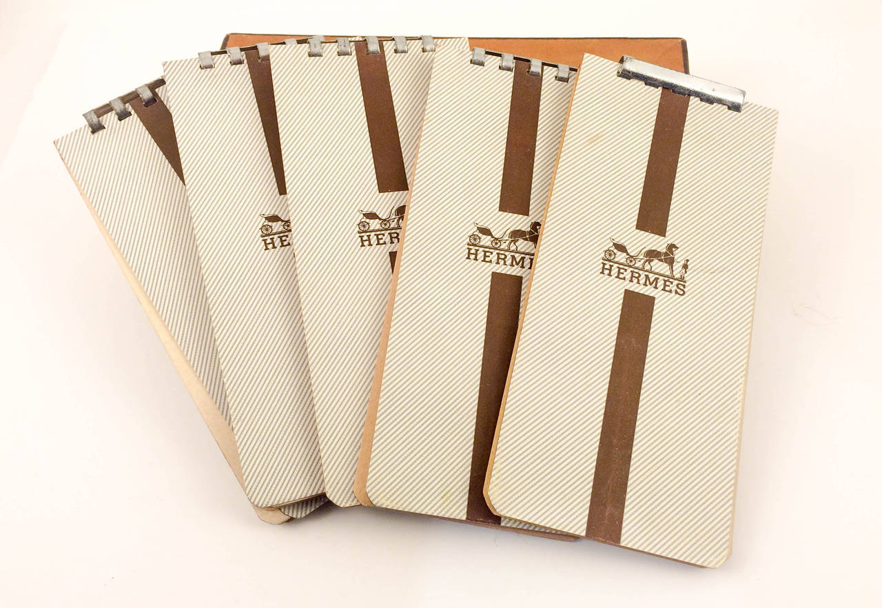 Hermes Leather Case Notepad 1950s At 1stdibs