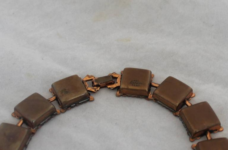 Matisse Renoir Vintage Copper Square Necklace Circa 1950
