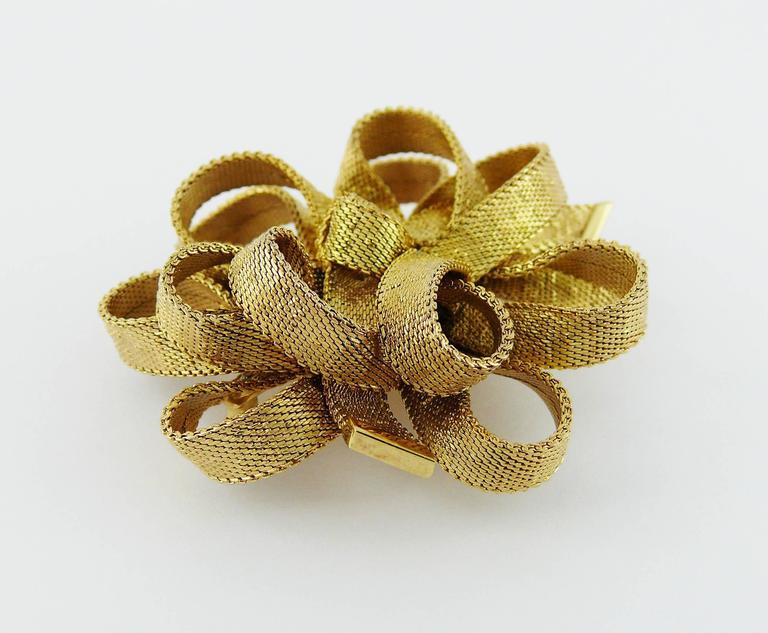 Christian Dior Vintage 1964 Ribbon Bow Brooch At 1stdibs