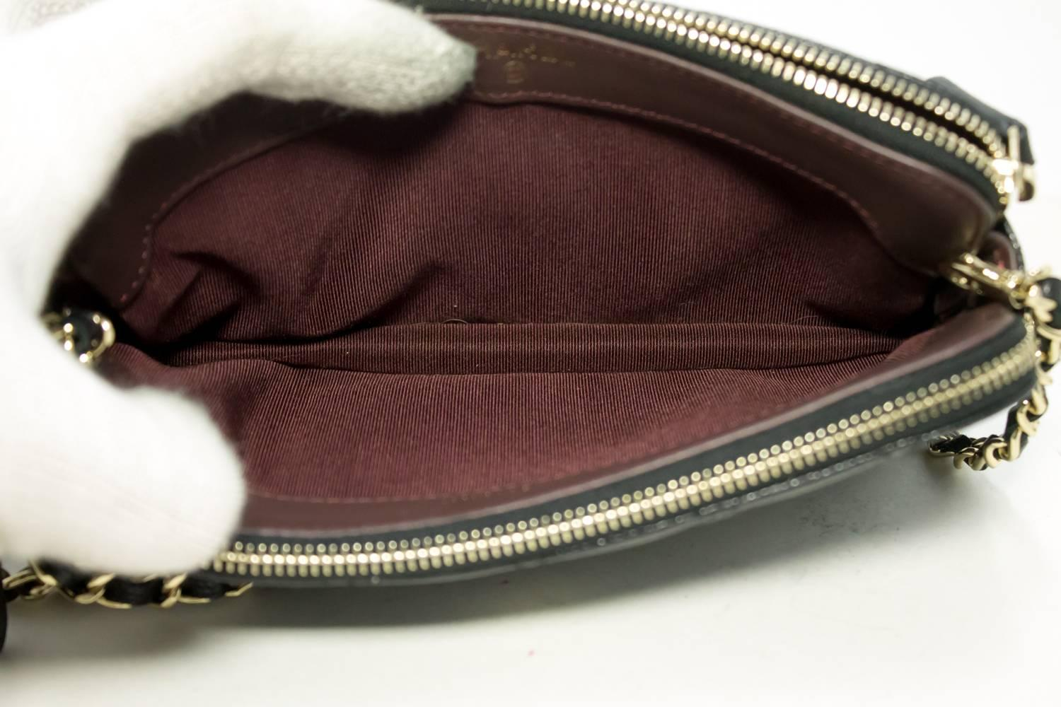 Chanel Caviar Wallet On Chain Woc Double Zip Chain