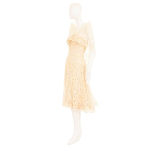 Medium Crop Of Ivory Lace Dress