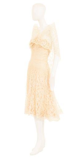 Prodigious London Chanel Haute Couture Ivory Lace Circa Chanel Haute Couture Ivory Lace Circa Conditionfor Sale Sale At Ivory Lace Dress Midi Ivory Lace Dress Long Sleeve