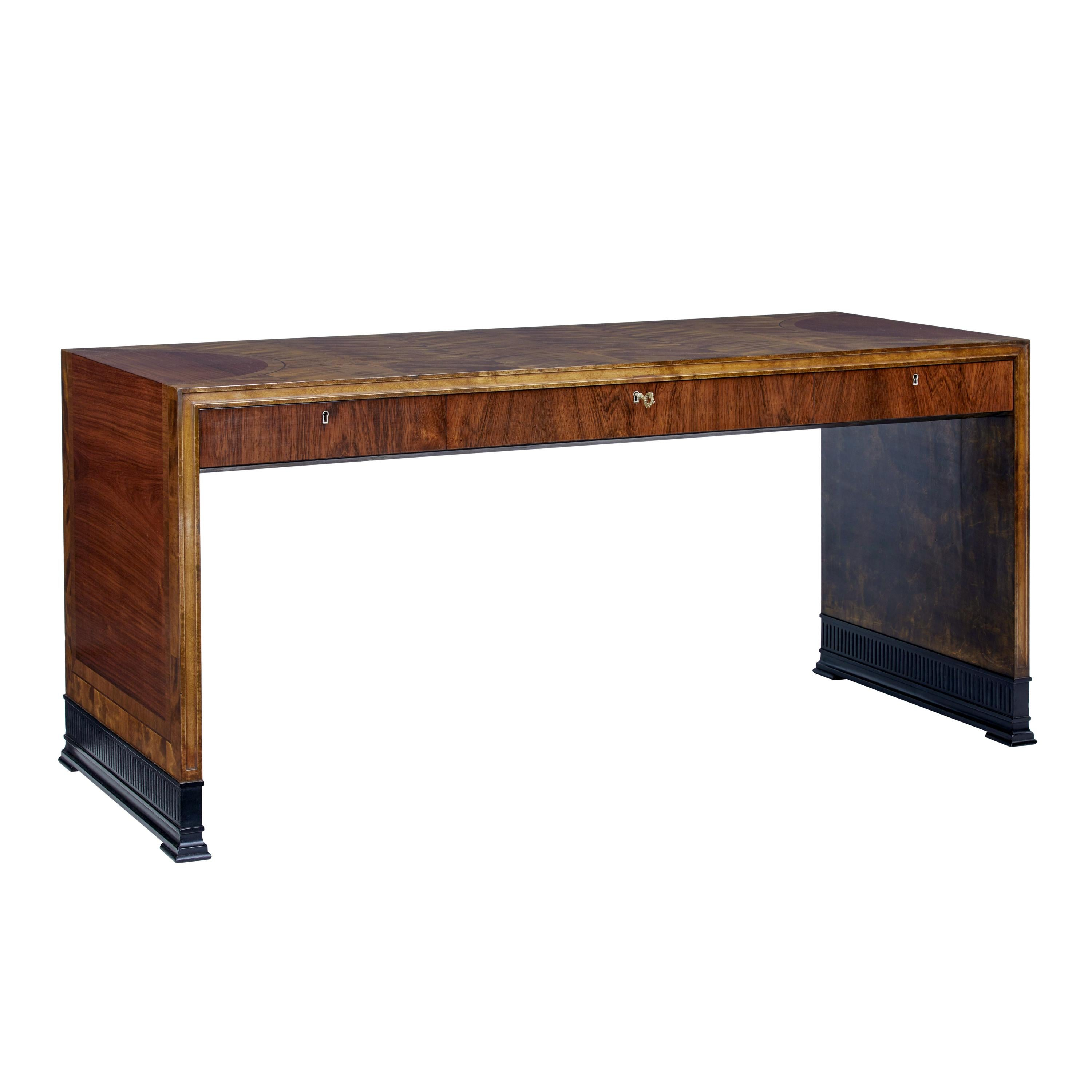 Art Deco Mahogany And Birch Inlaid Low Desk For Sale At 1stdibs - Low Desk