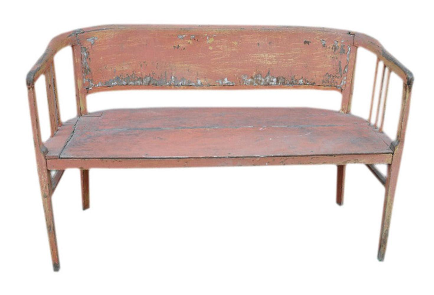 Holzbank Outdoor Art Nouveau Original Bench Circa 1900