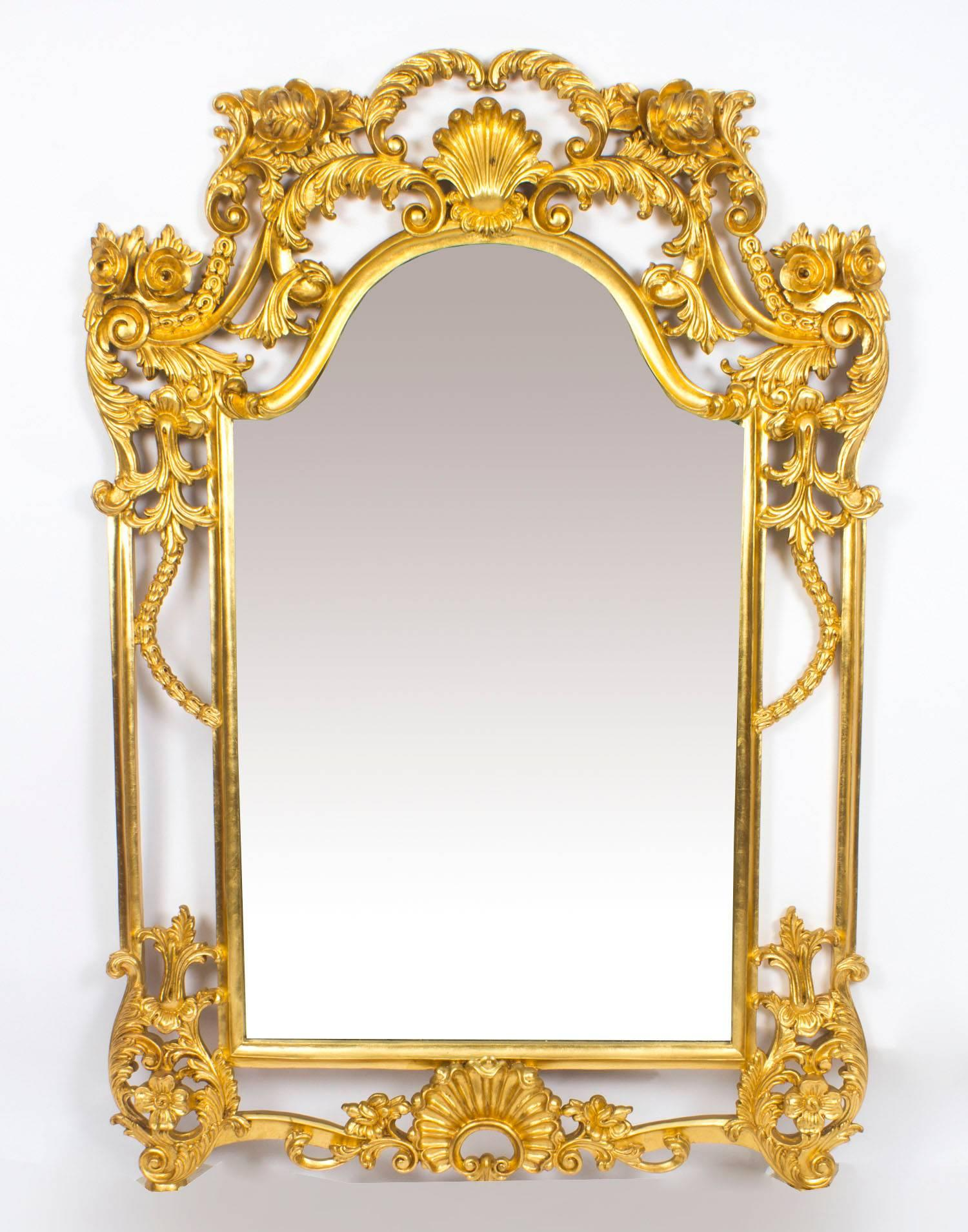 Decorative Mirror Beautiful Ornate Large Italian Gilded Decorative Mirror