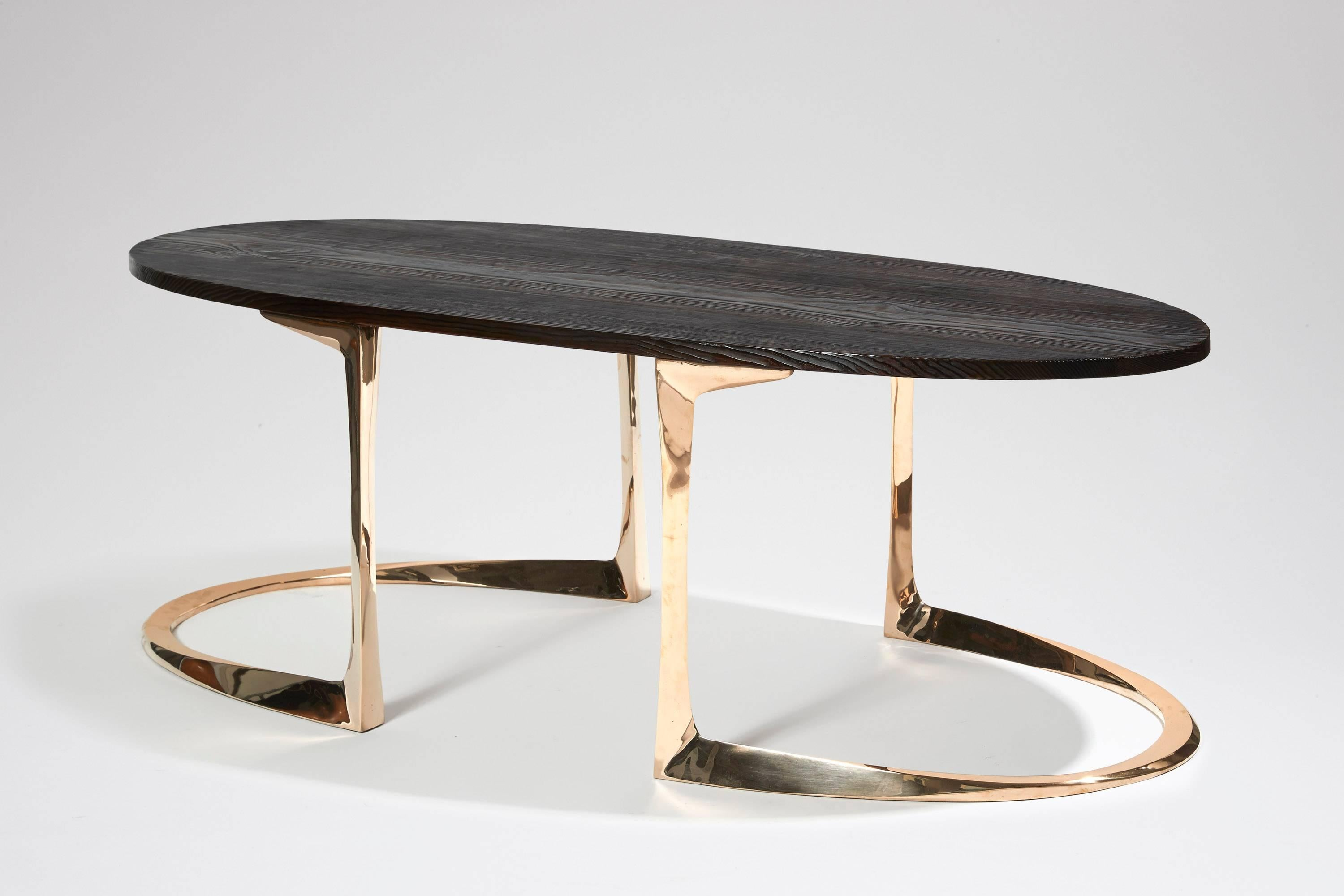 Table Basse Studio Bronze And Burnt Pinewood Coffee Table By Anasthasia Millot Wh Studio