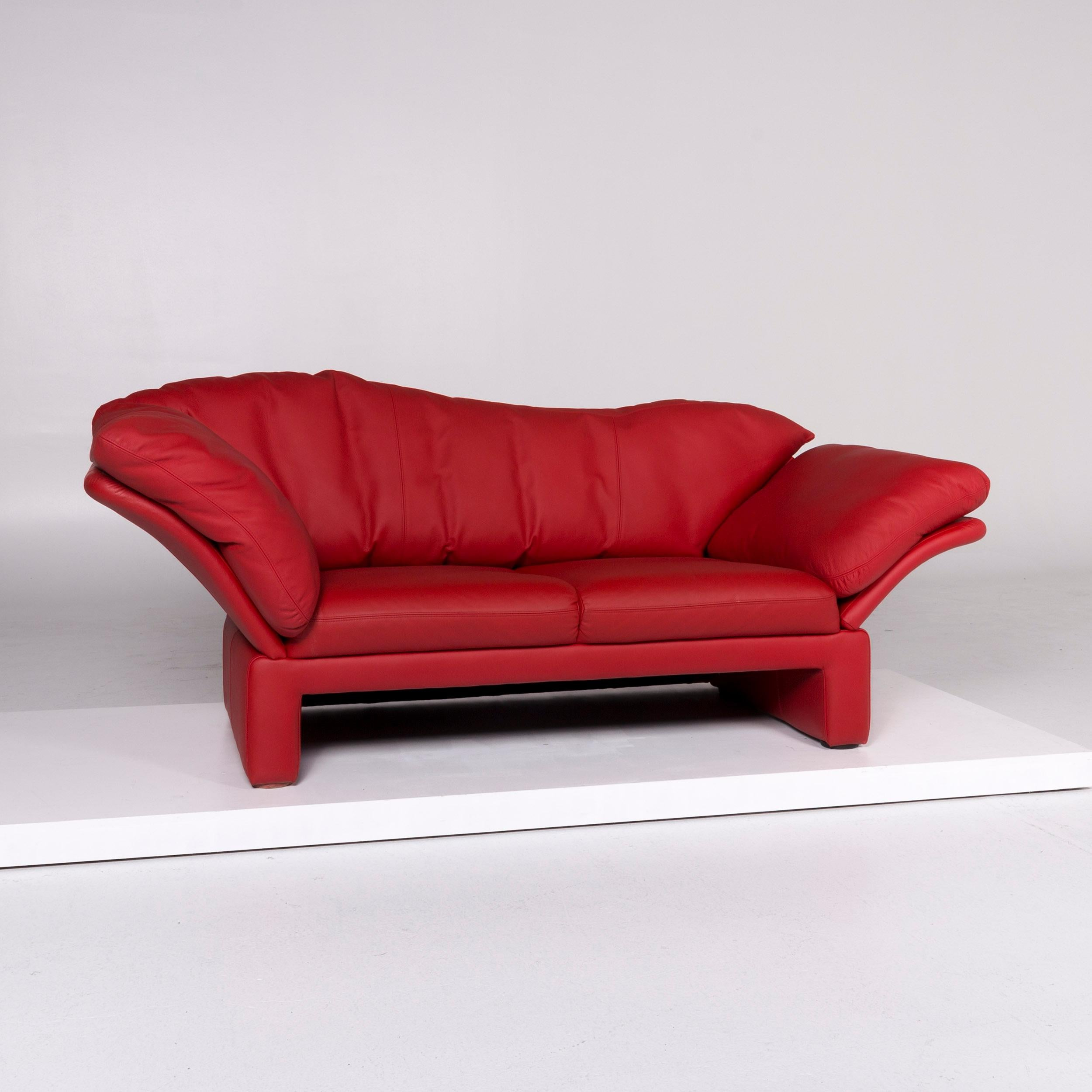 Brühl And Sippold Prelude Designer Leder Sofa Rot Zweisitzer For Sale At 1stdibs