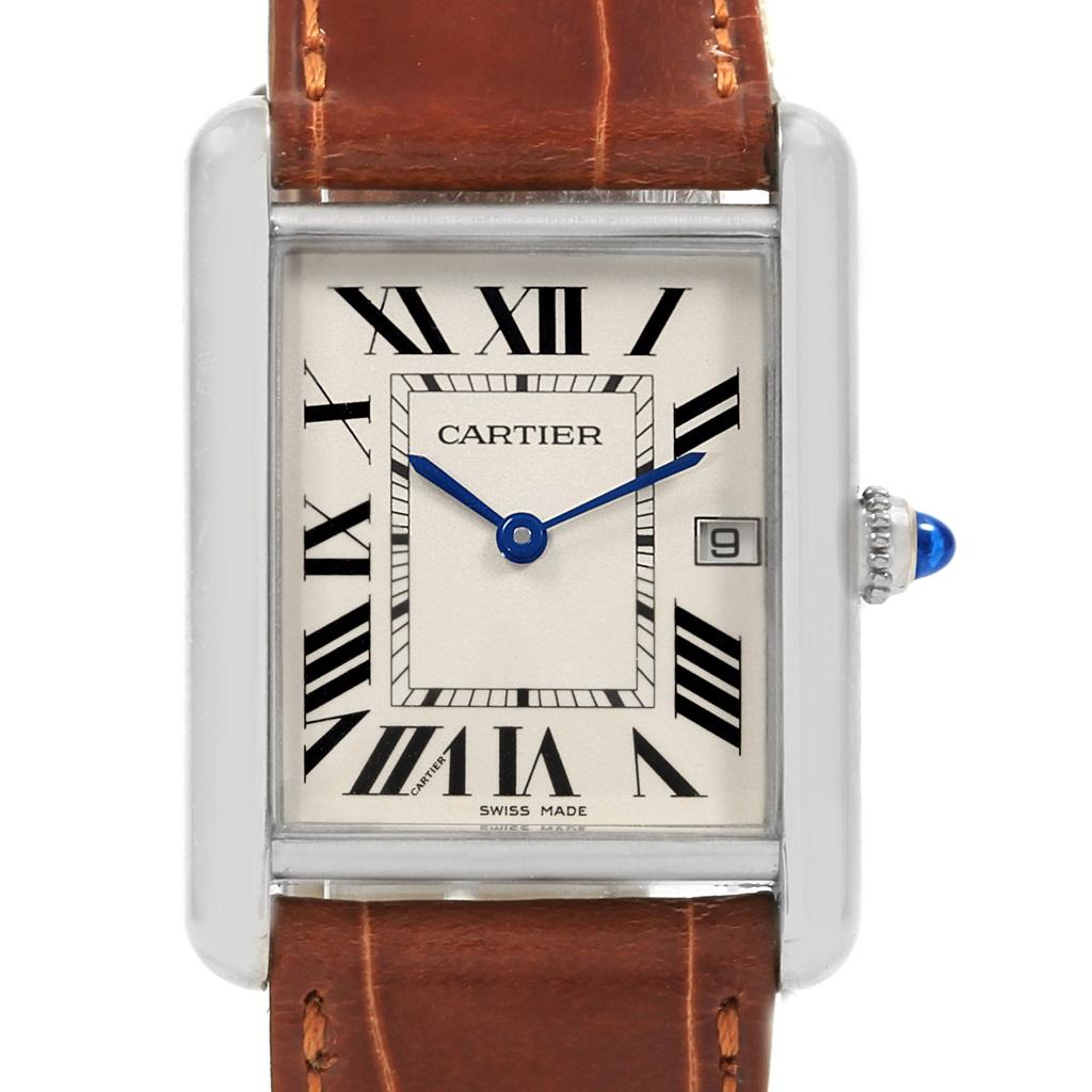 Cartier Watches Cartier Vintage Tank Watch With Alligator Strap