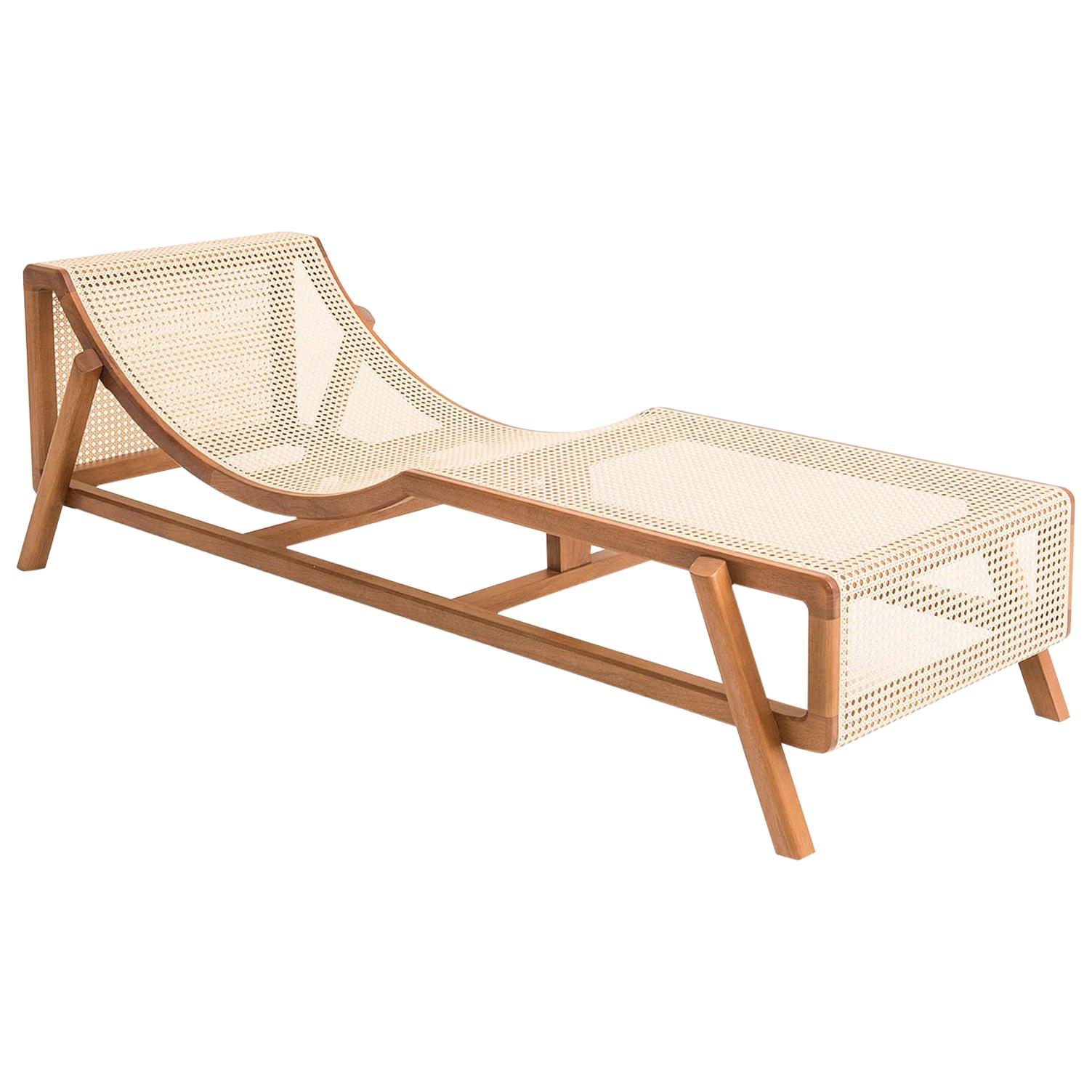 Sofa Jequitiba Nova America Contemporary Rope And Wood Chaise Longue