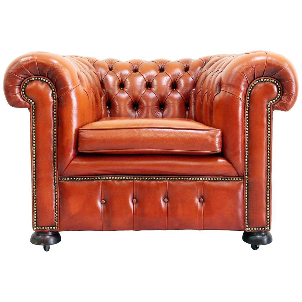 Chesterfield Sessel Chesterfield Sessel Leder Antik Vintage Englisch Chippendale Club