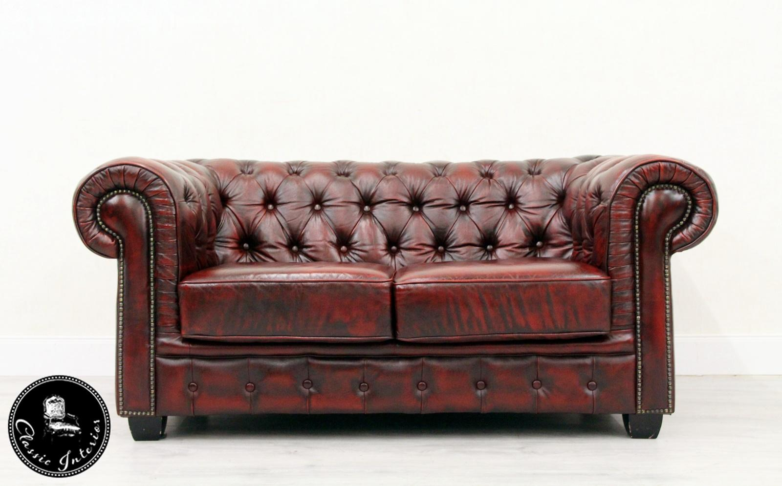Vintage Couch Chesterfield Sofa Leather Antique Vintage Couch English Armchair Old