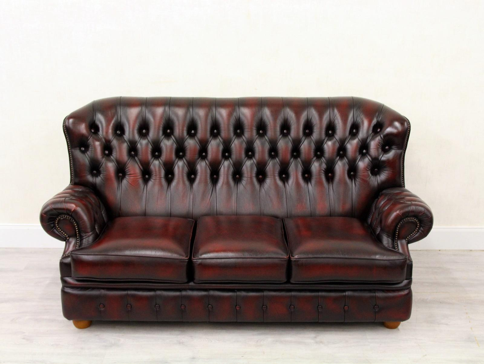 Bettsofa Antik Chesterfield Sofa Leder Antik Vintage Couch Englisch Chippendale