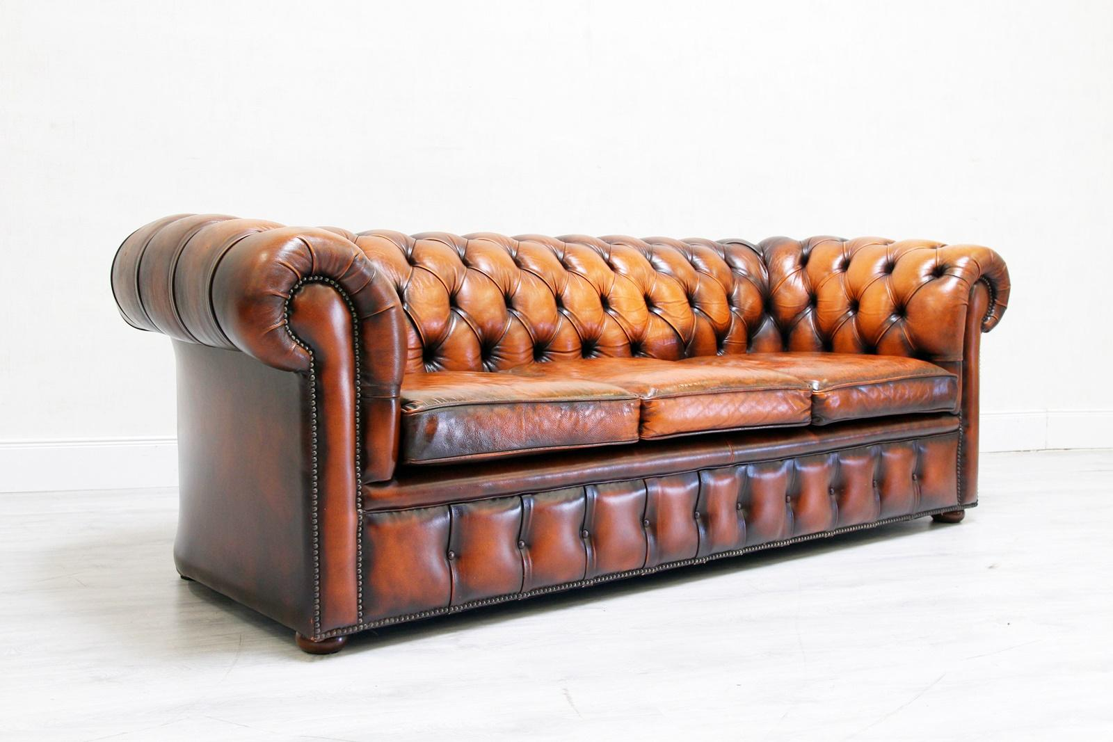 Bettsofa Antik Chesterfield Sofa Leder Antik Vintage Couch English Chippendale
