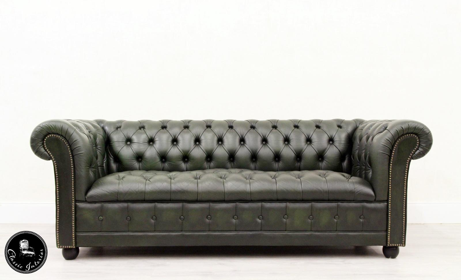 Couch Sessel Chesterfield Sofa Sessel Leder Antik Fernsehsessel English 3 2 1