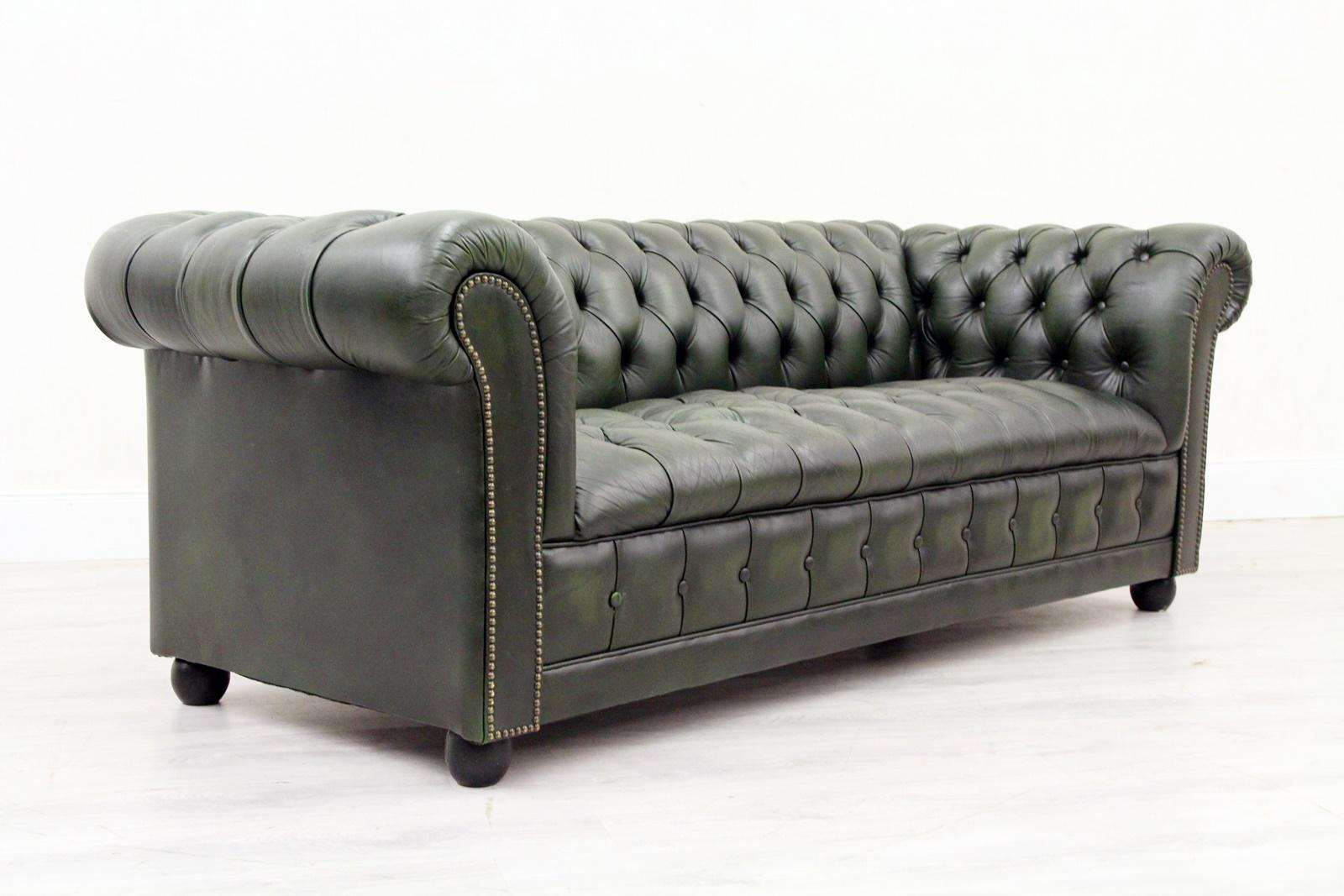 Couch Und Sessel Chesterfield Sofa Sessel Leder Antik Fernsehsessel English 3 2 1