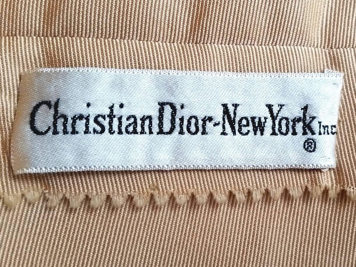 Christian Dior Demi Couture Gold Silk Evening Dress With