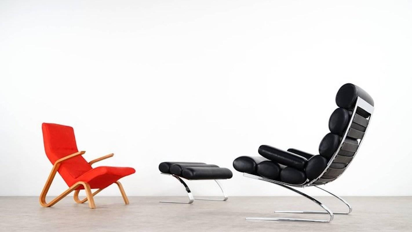 Sinus Sessel Cor Sinus Lounge Chair With Ottoman With Or Without Arms In Fabric Or Leather