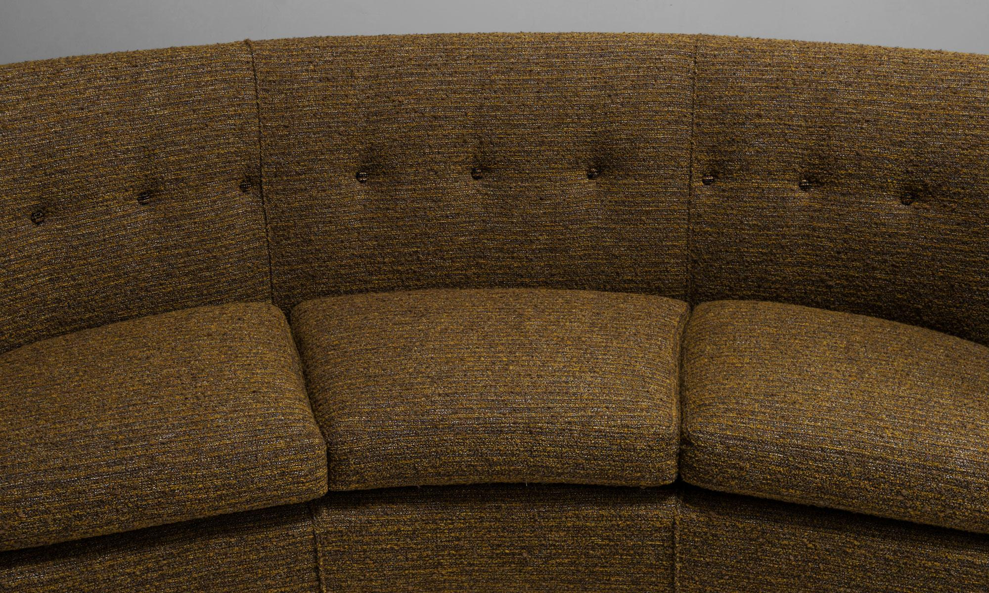 Curved Sofa By Trevor Page Norwich England Circa 1950 For Sale At 1stdibs
