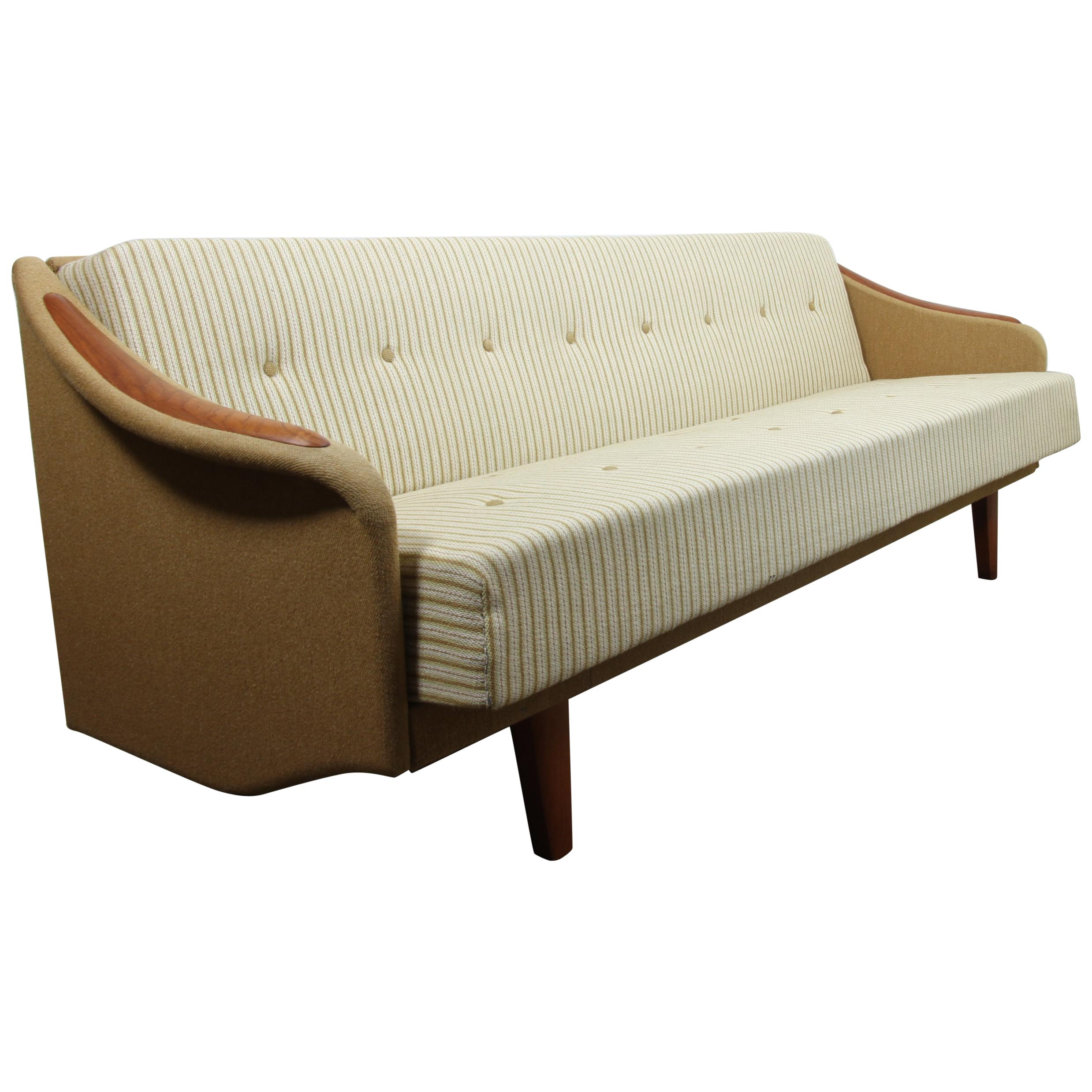 Danish Vintage Daybed Teak Sofa 1960s For Sale At 1stdibs