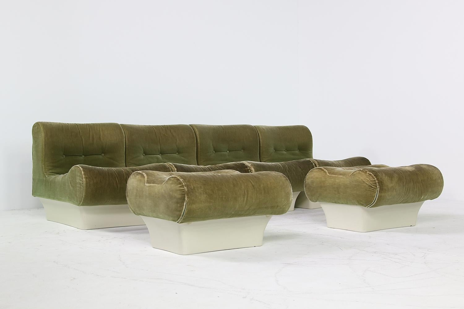 Otto Sale Sofa Vintage 1960s Otto Zapf Modular Sofa Lounge Chair Living Room Set Mohair
