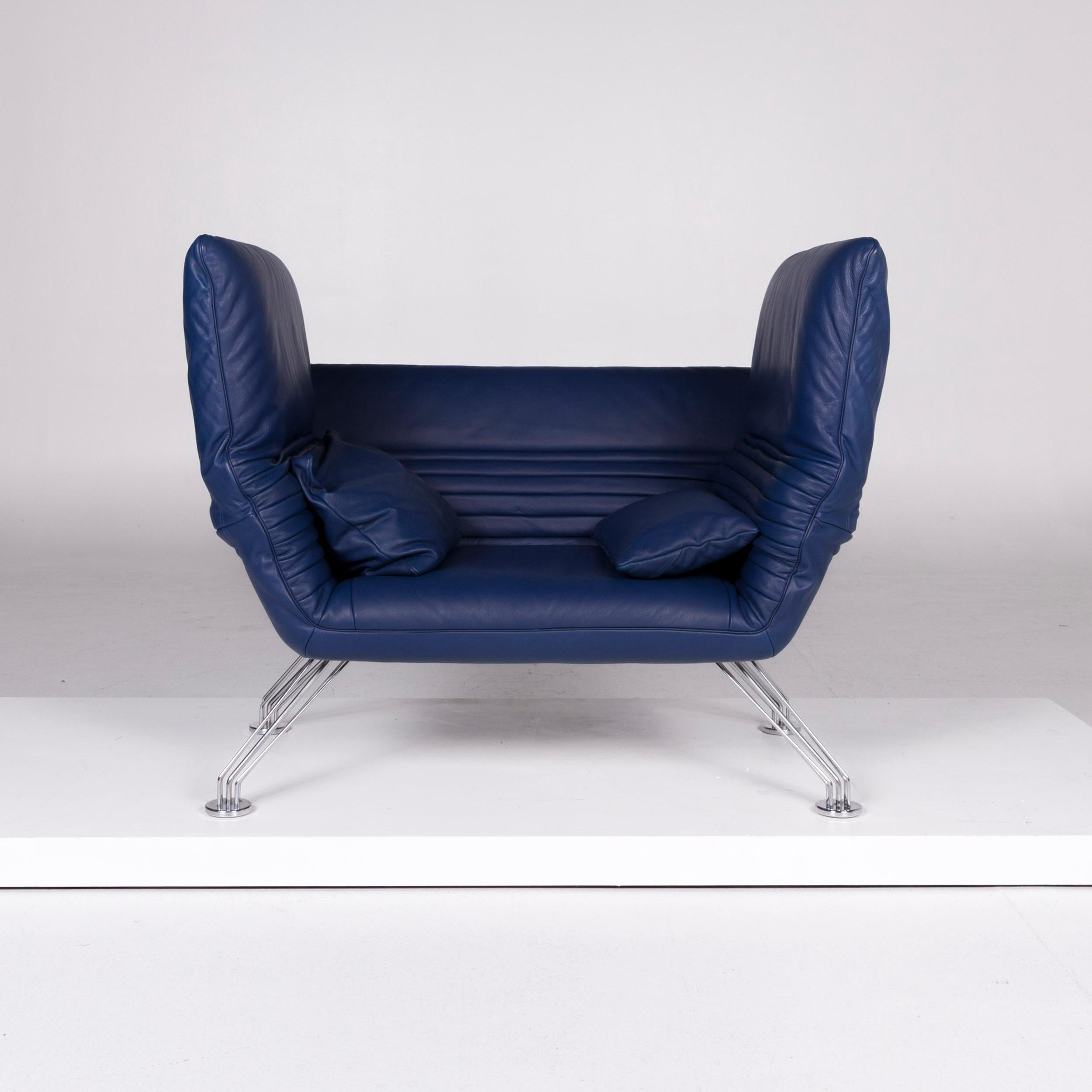 Sessel Blau De Sede Ds 142 Designer Leder Sessel By Wilfried Totzek Blau Sessel At 1stdibs