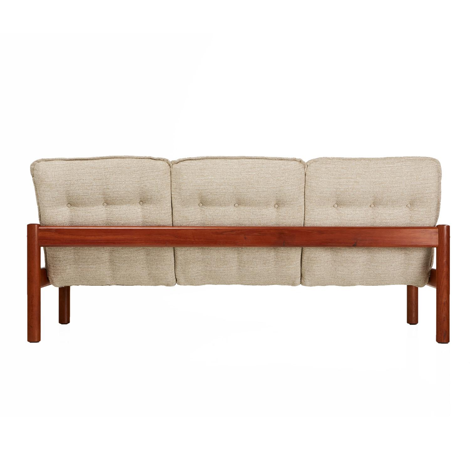 Sofa Modern Domino Mobler Solid Teak Danish Modern Three Seat Sofa Couch New Upholstery