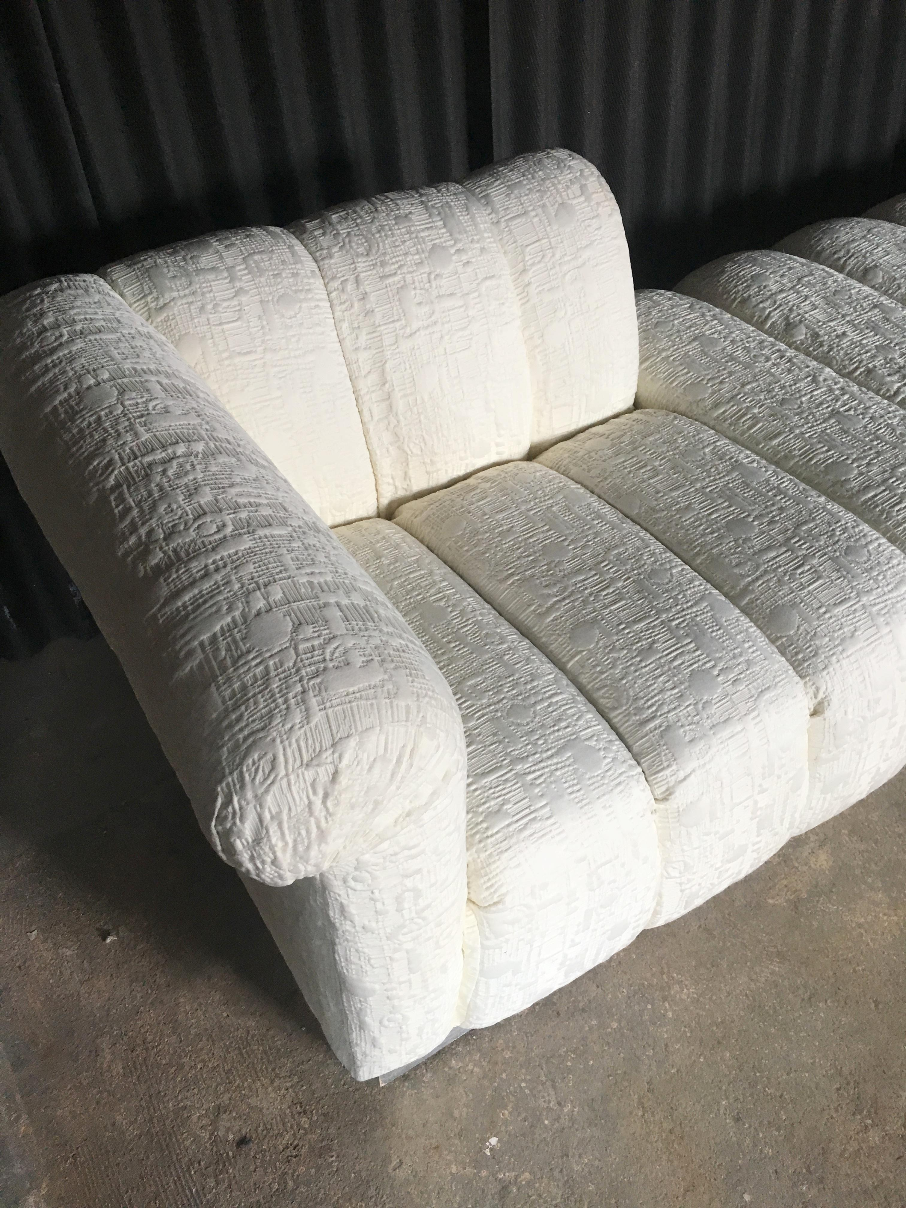 Fabulous Over Sized Channel Tufted Chaise Or Lounge Fainting Couch At 1stdibs