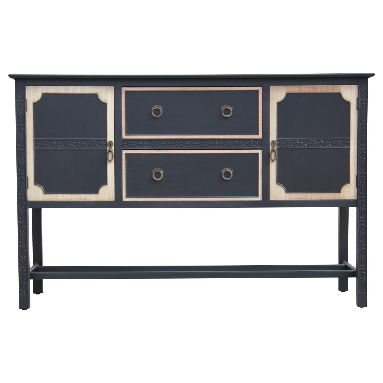 Buffet Sideboard Fantastic Furniture Fantastic Custom Modern 1930s Chinese Chippendale Two Tone Sideboard Credenza