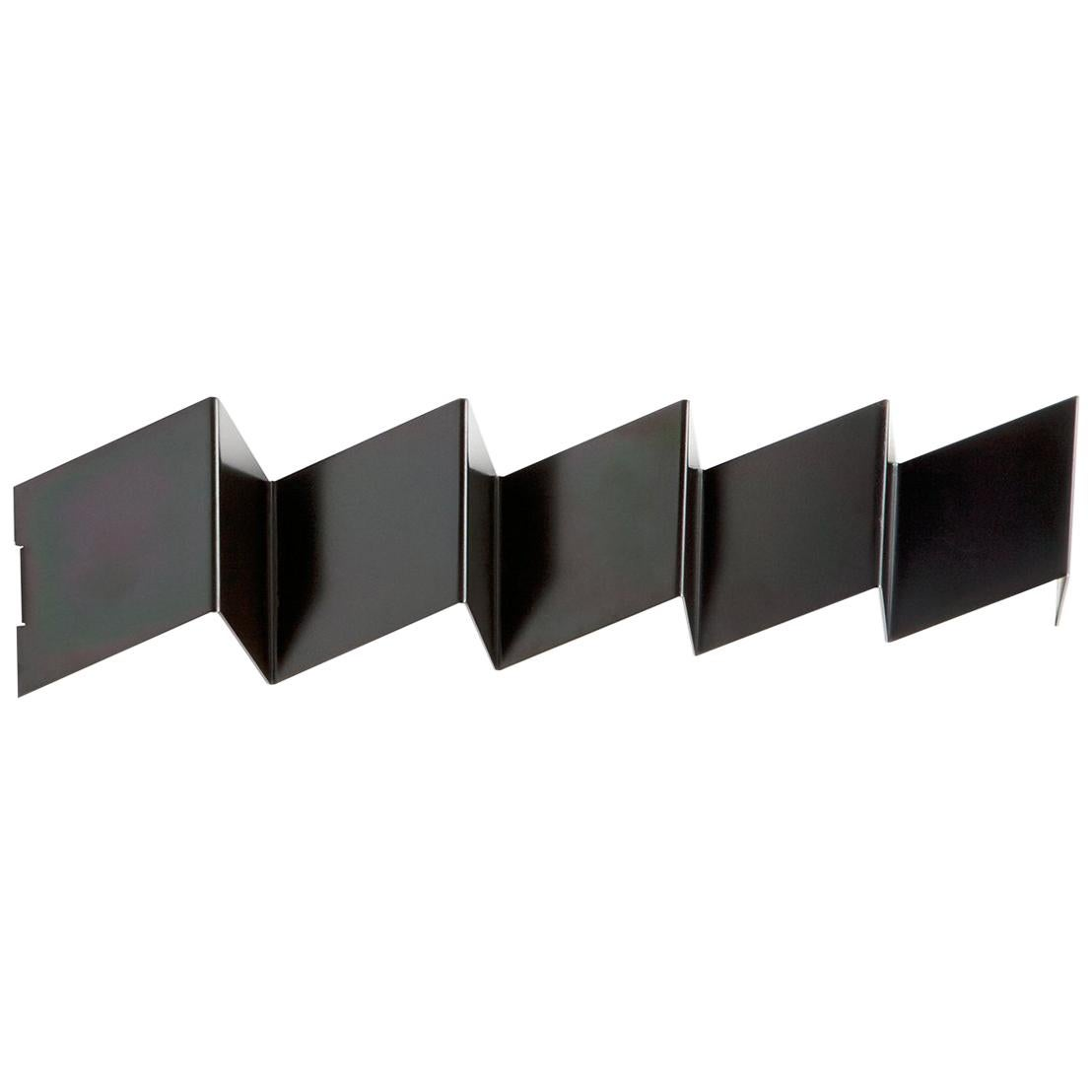 Black Wall Hooks Fold Coat Rack Iridescent Black Zinc Geometric Metal Wall Hook