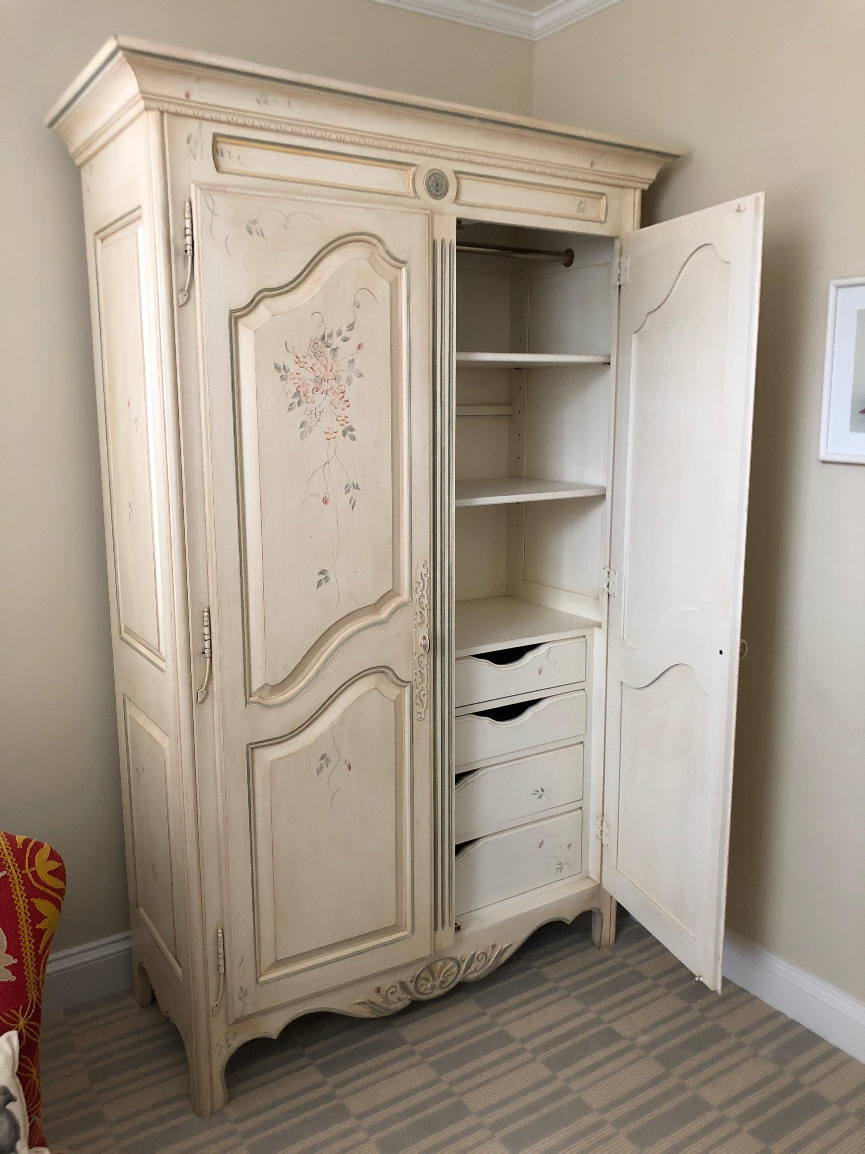 Wardrobe Furniture French Country Painted Wardrobe Armoire By Ethan Allen