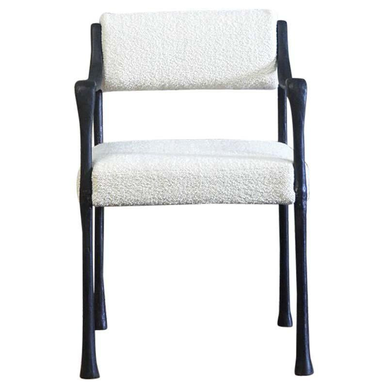 Contemporary Seating Giac Dining Chair With Aluminum Hand Patinated Frame Contemporary Seating