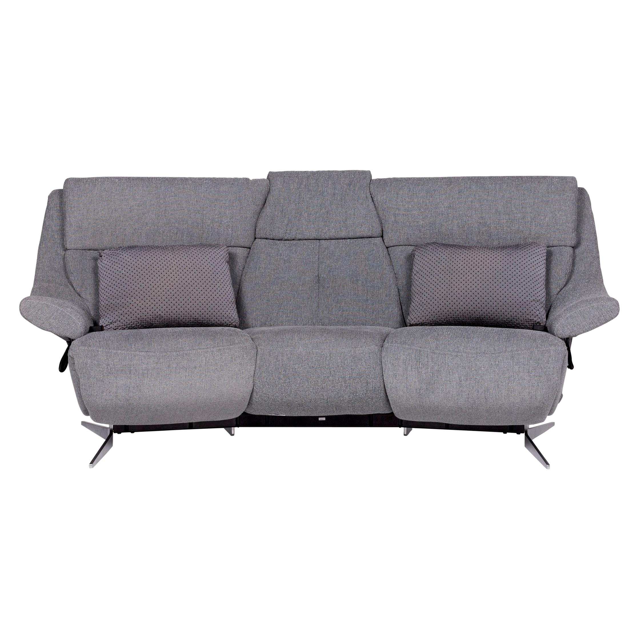 Ecksofa Elektrische Funktion Brühl Sippold Moule Stoff Sofa Grau Zweisitzer Relaxfunktion Funktion Couch
