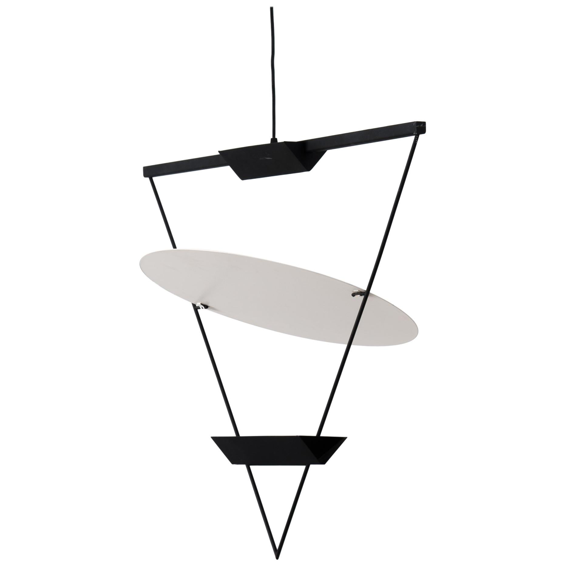 Artemide Zefiro Inverted Triangle Lamp By Mario Botta For Artemide, 1985