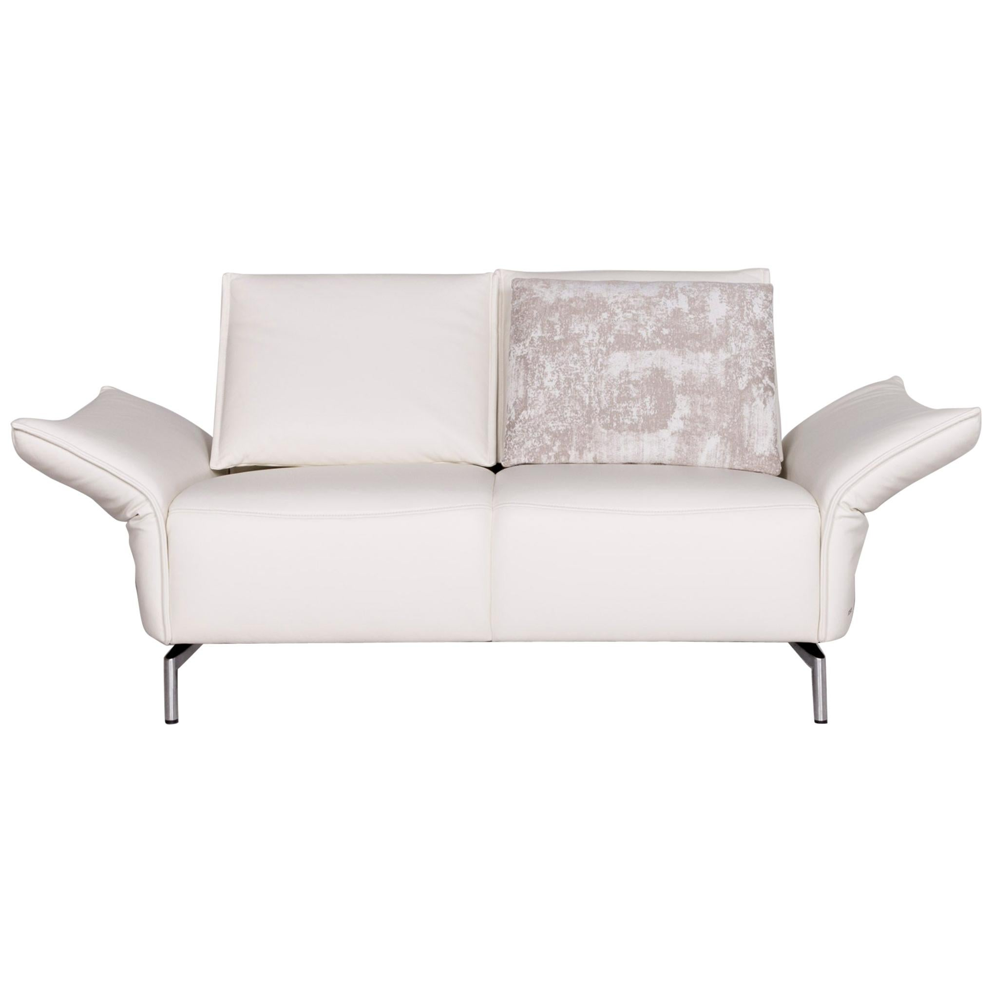 Koinor Vanda Koinor Vanda Designer Leather Sofa White Real Leather Two