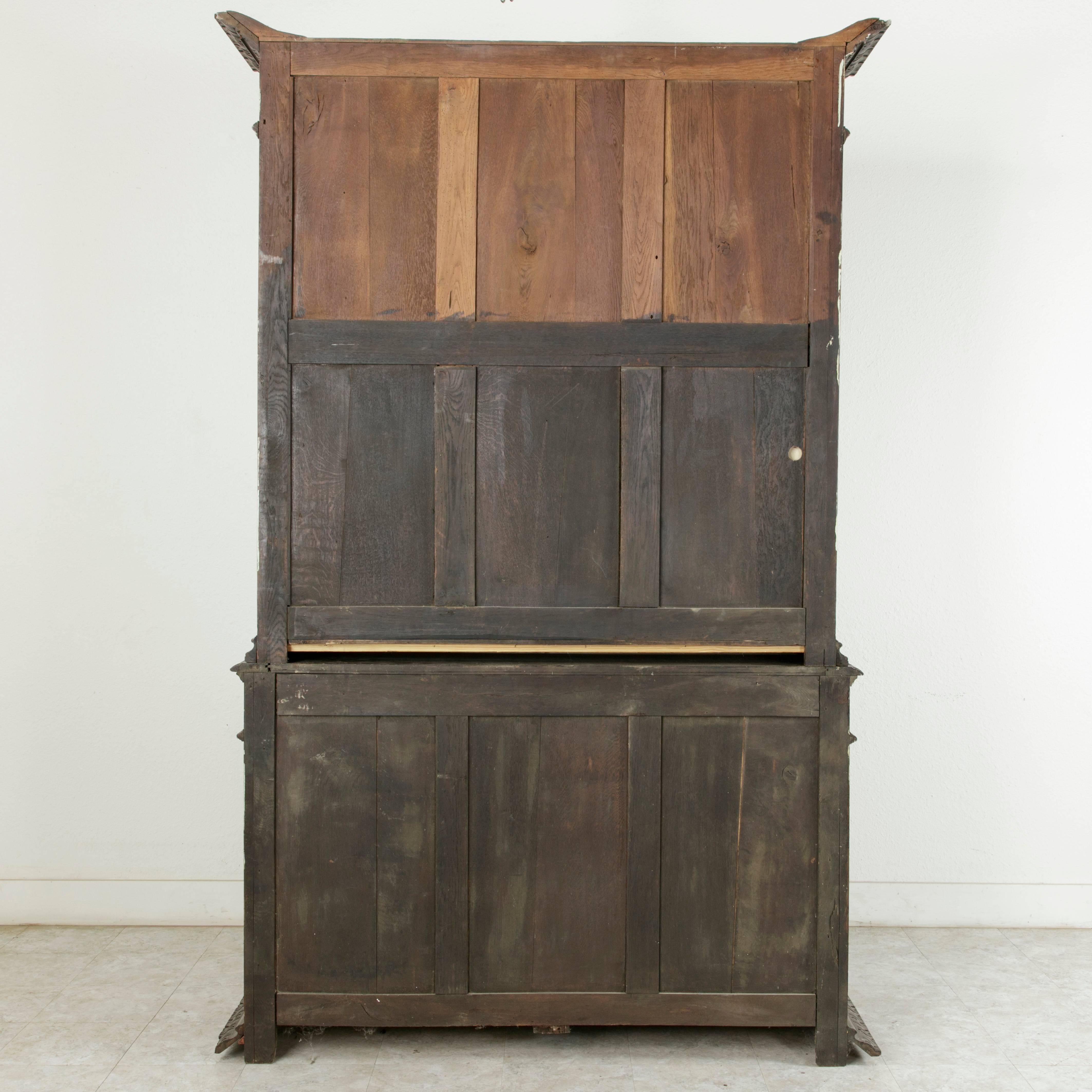 Buffet Henri 2 Peint Late 19th Century French Henri Ii Style Hand Carved Oak Buffet Deux Corps