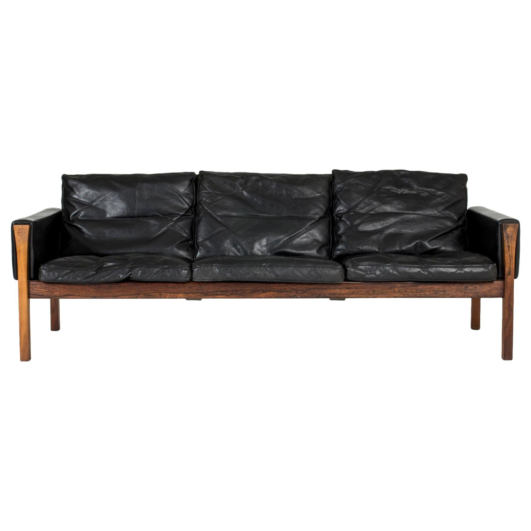 Leather Quot Ch 163 Quot Sofa By Hans J Wegner For Sale At 1stdibs - Sofa Ch