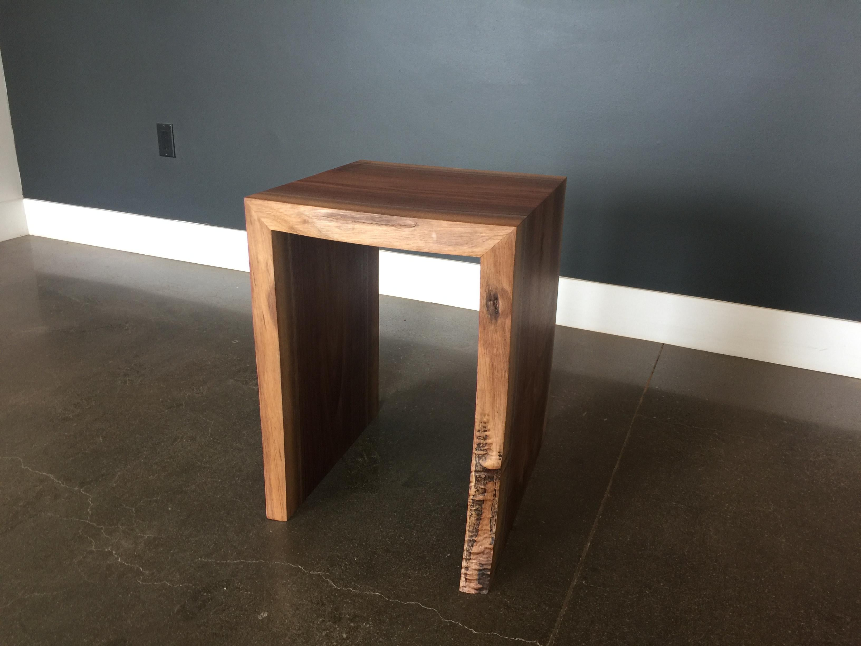 Black End Tables With Drawer Black Walnut End Table Live Edge