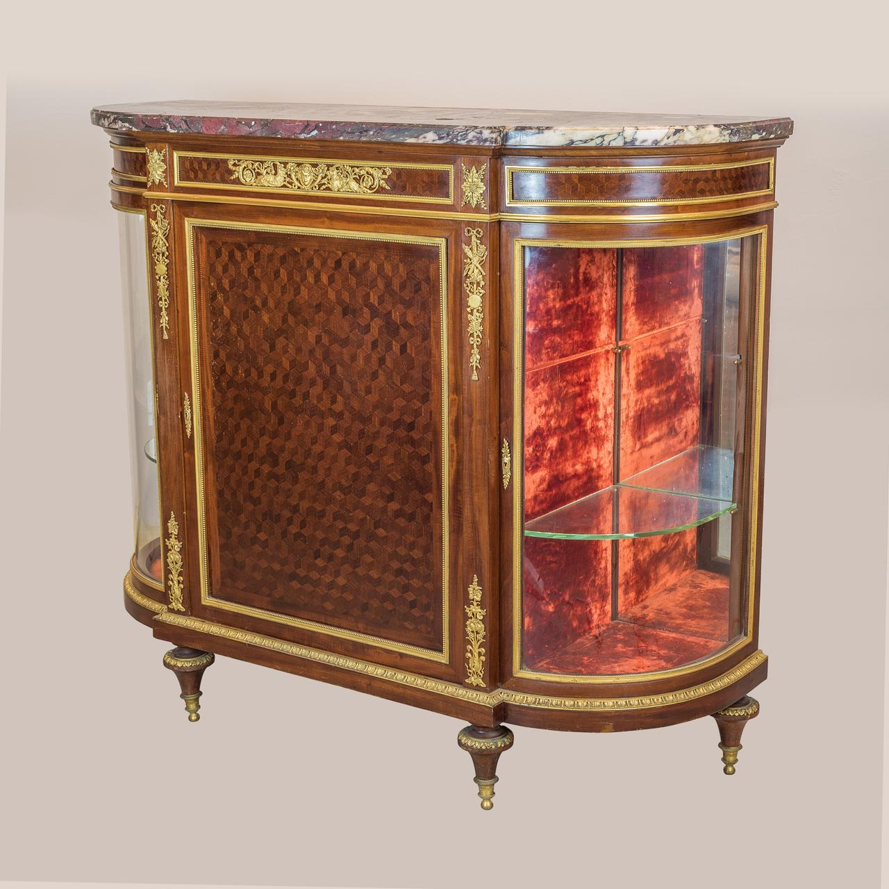 Meuble Louis 16 Louis Xvi Style Ormolu Mounted Parquetry Meuble D Appui Cabinet By Paul Sormani