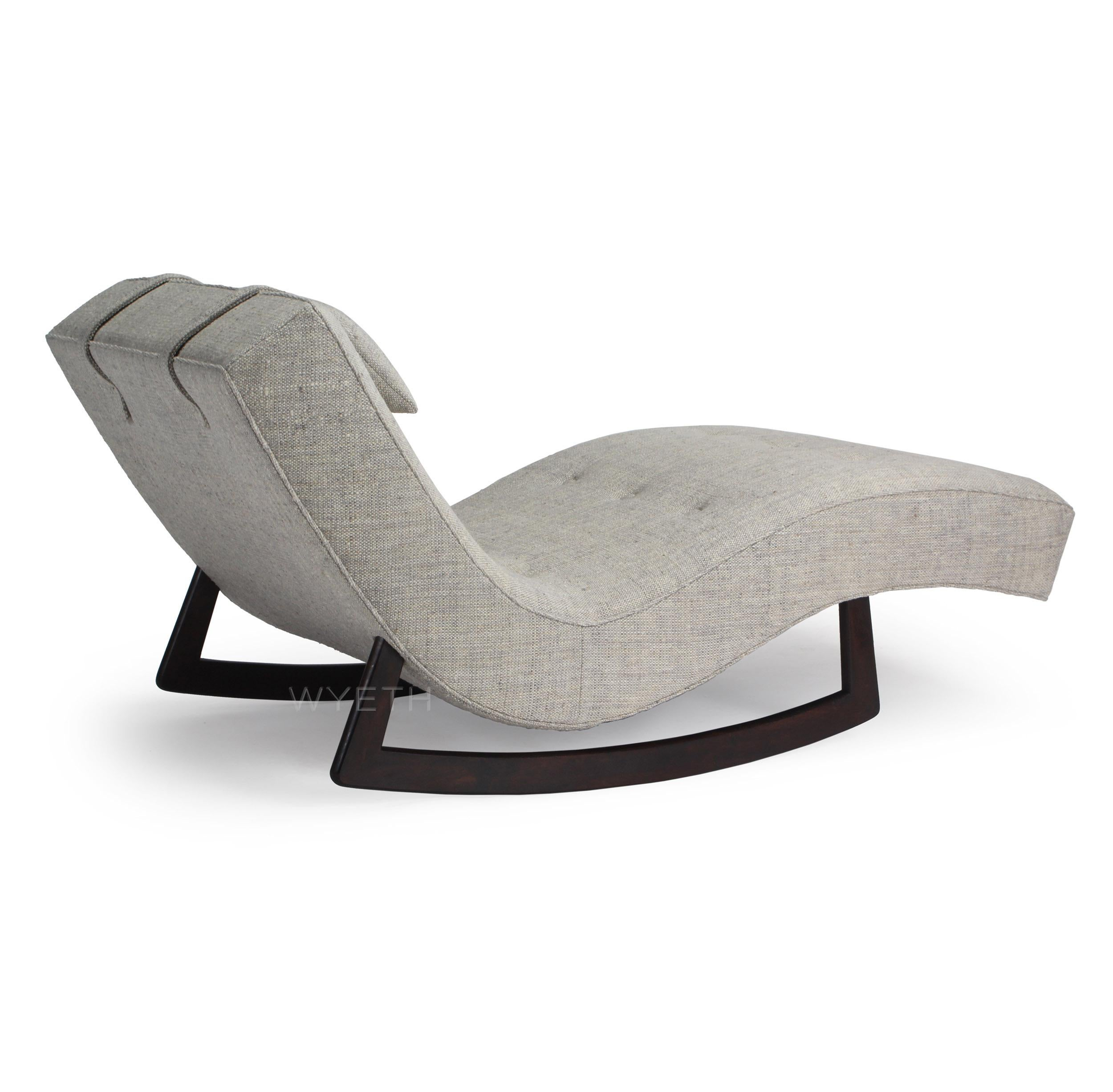 Chaise Rocking Chair Low Rocking Chaise By Adrian Pearsall