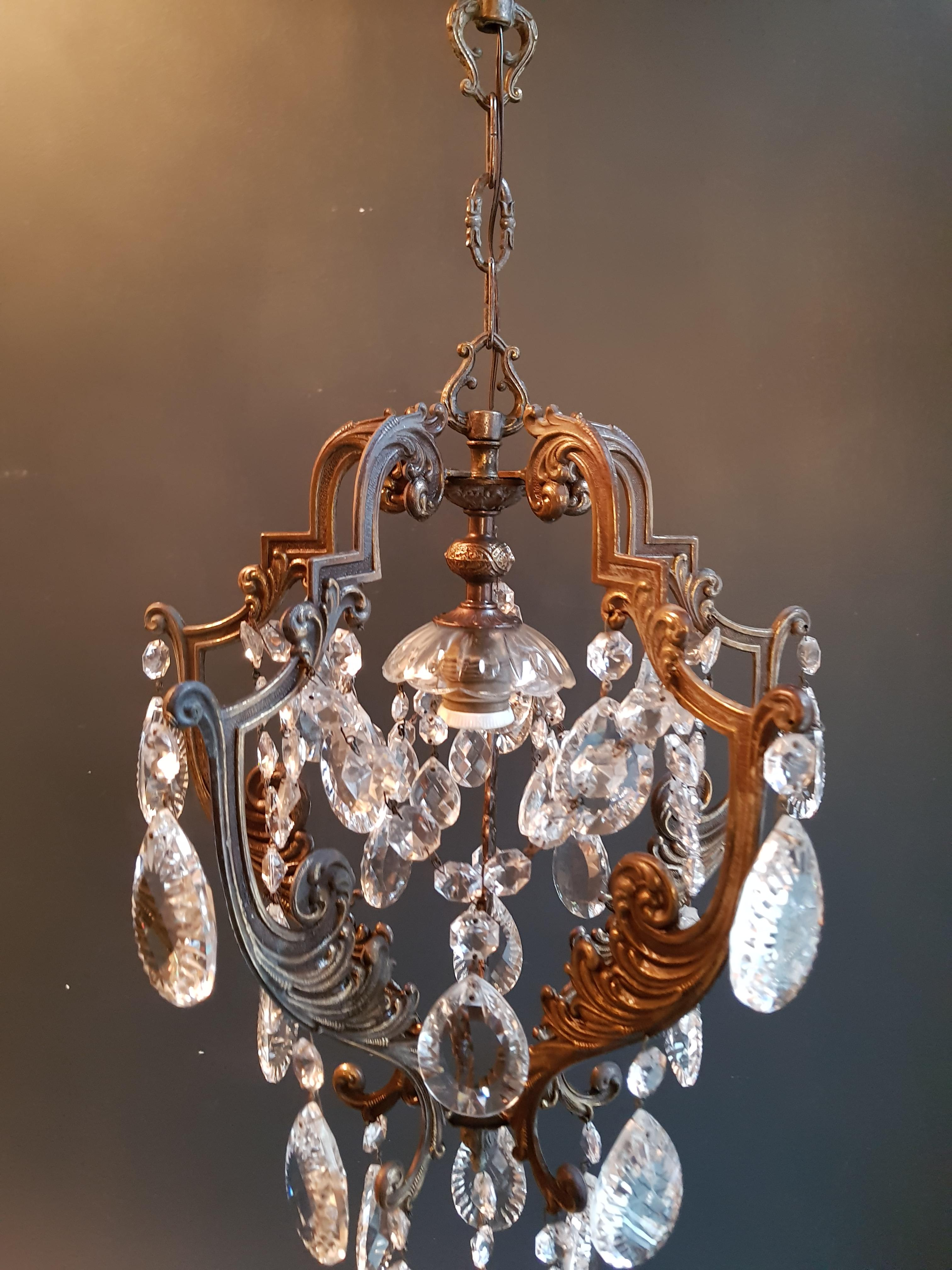 Lustre Cage Lustré Cage Chandelier Crystal Ceiling Lamp Hall Lustre Antique Art Nouveau