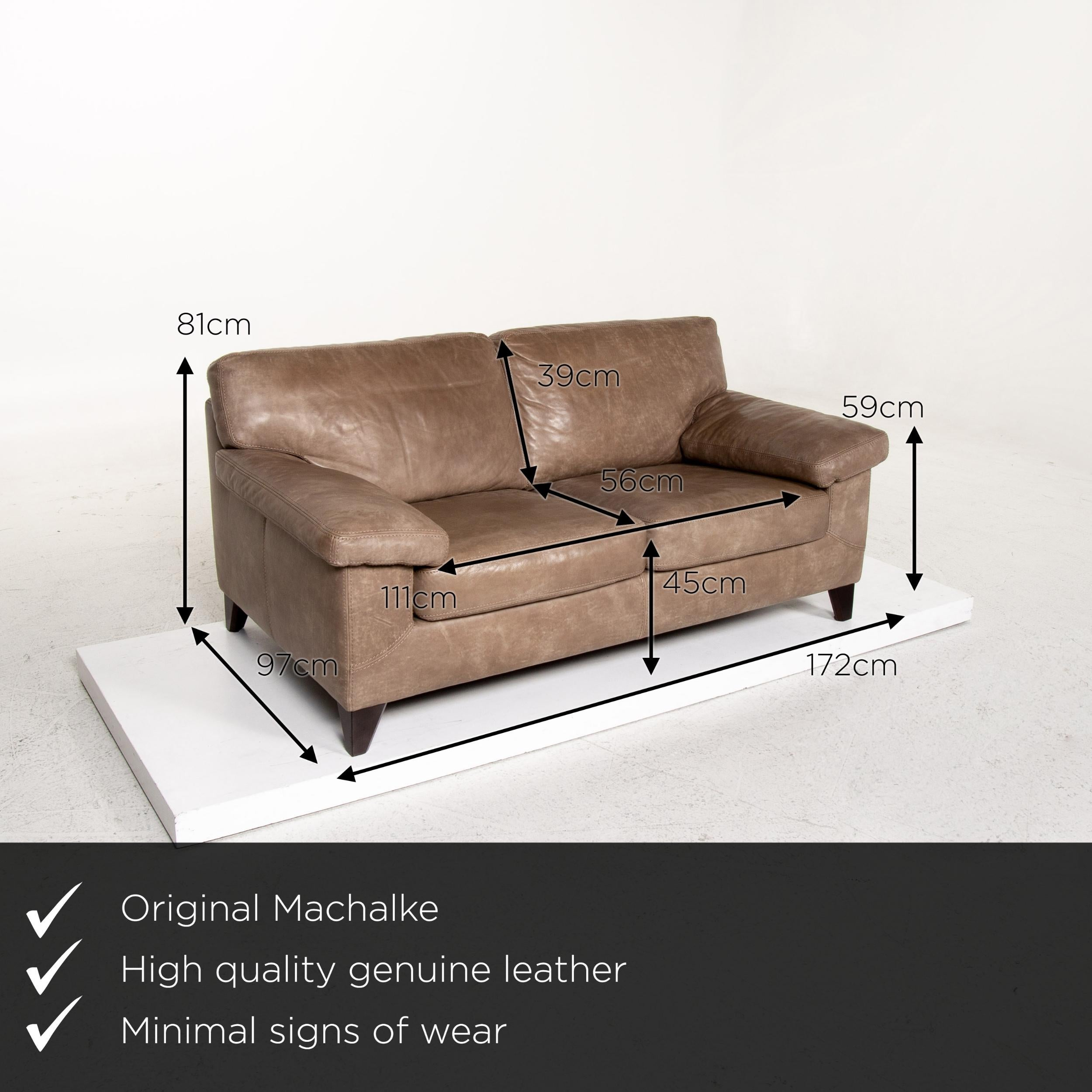 Machalke Diego Leather Sofa Brown Two Seat Couch Teun Van Zanten For Sale At 1stdibs