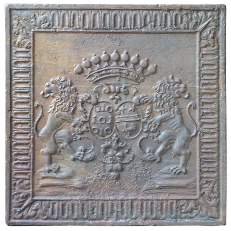 Plaques De Cheminées Héraldiques Magnificent Fireback With Arms Of The Pimodan Joeffroy Alliance 17 18th Century