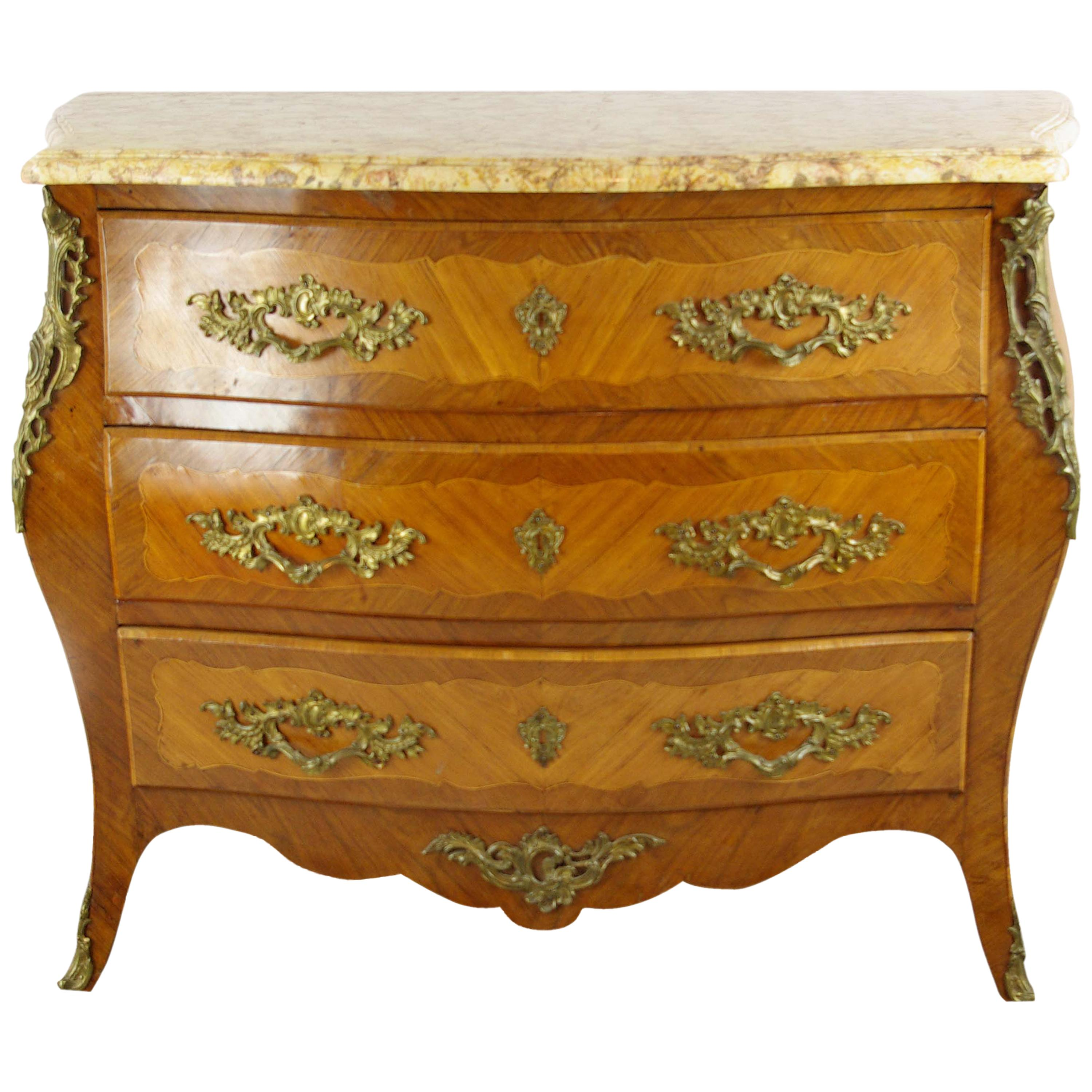 Commodes Louis 15 Marble Top Commode Louis Xv Style Bombe Commode France 1930 B1142