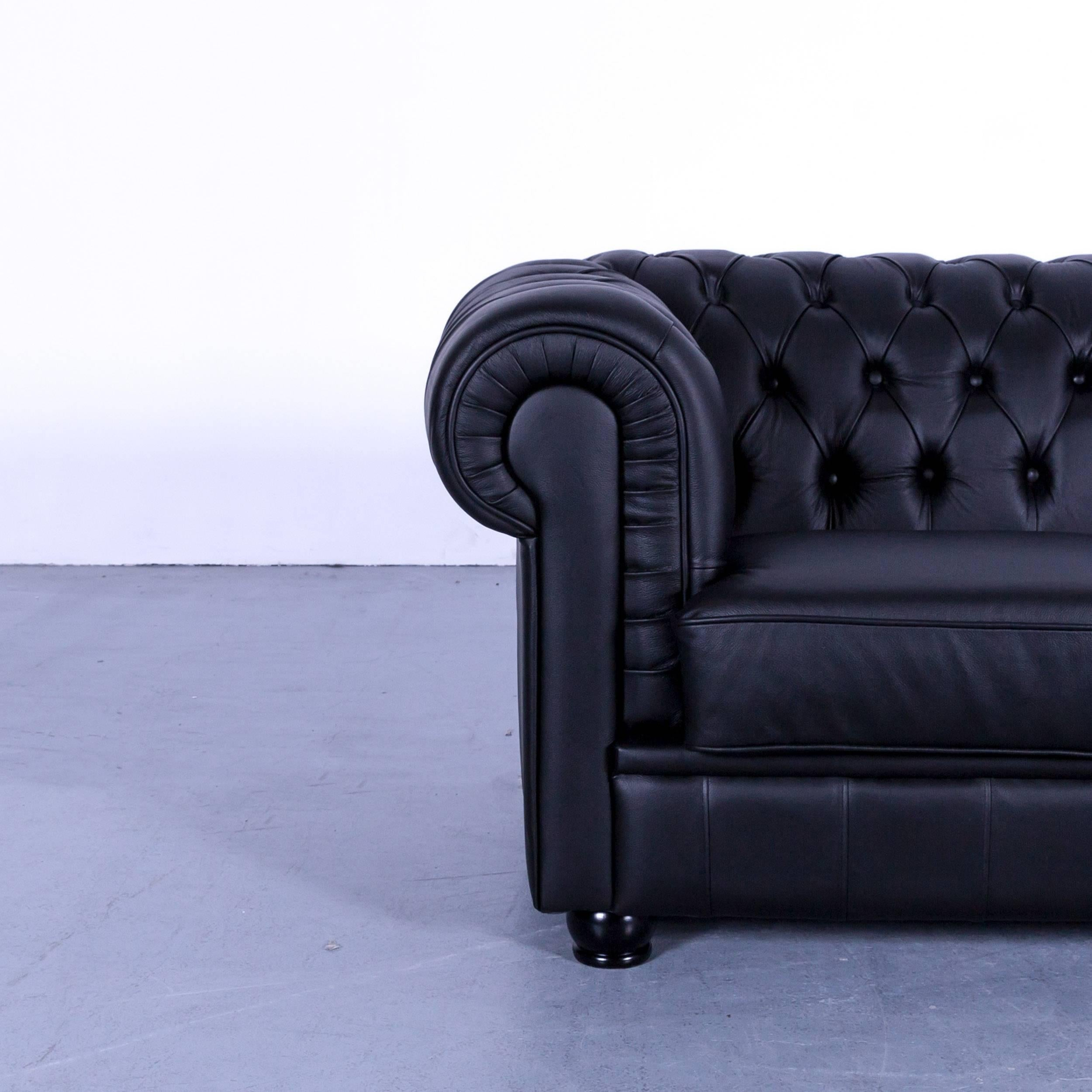 Sofa Max Winzer Max Winzer Chesterfield Sofa Black Leather Two Seat Couch Vintage Retro Rivets