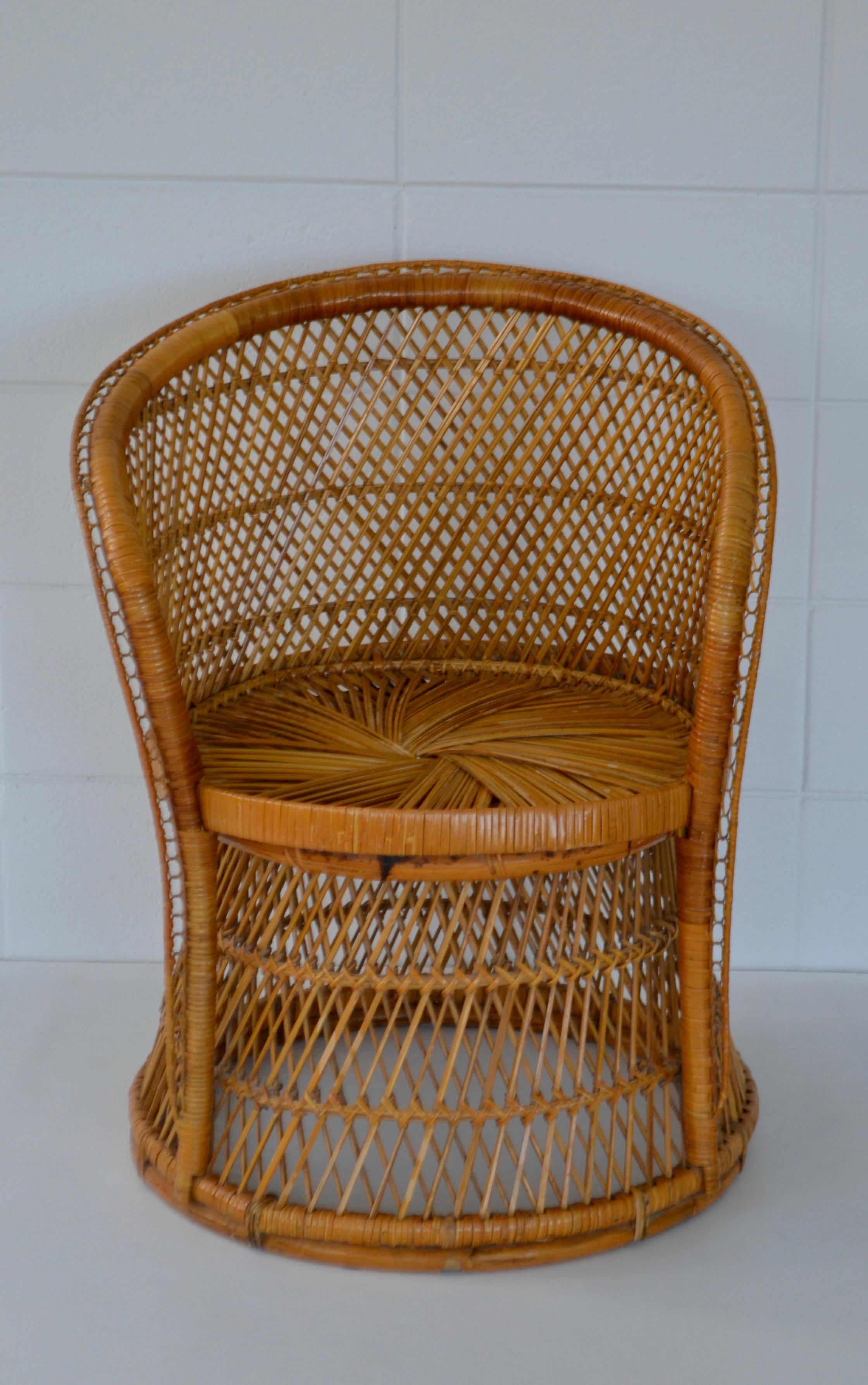 Rattan Lounge Chair Philippines Midcentury Woven Rattan Tub Chair