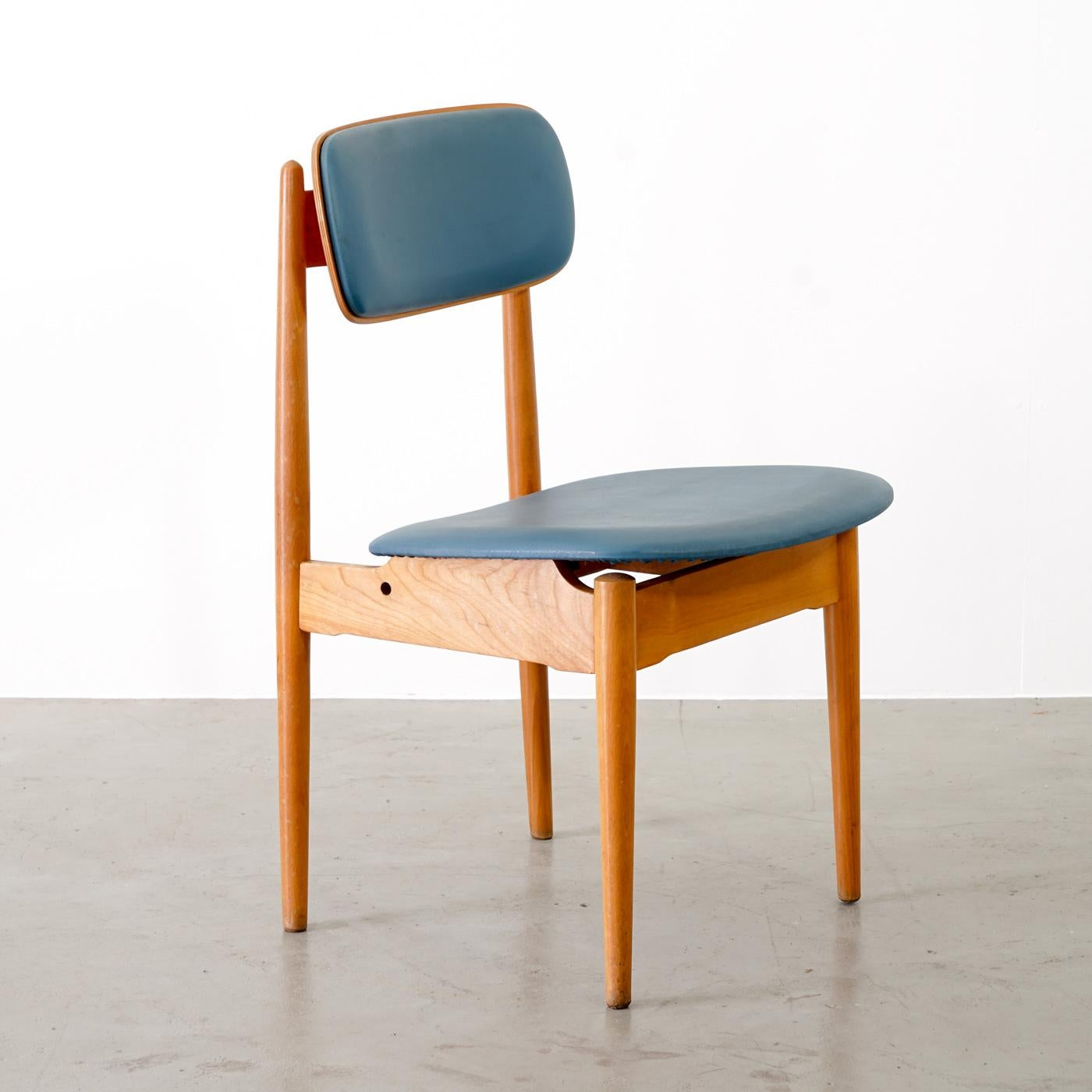 Bad Set Blau Midcentury Chairs Manufactured 1957 In Germany